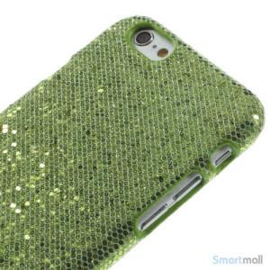 Spaendende laeder-cover til iPhone 6, med paillet-effekt - Groen3