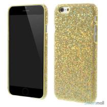 Spaendende laeder-cover til iPhone 6, med paillet-effekt - Guld