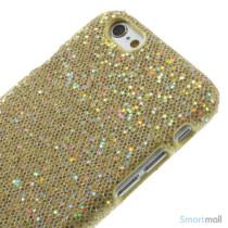 Spaendende laeder-cover til iPhone 6, med paillet-effekt - Guld3