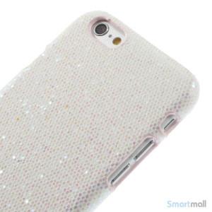 Spaendende laeder-cover til iPhone 6, med paillet-effekt - Hvid3
