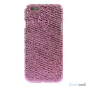 Spaendende laeder-cover til iPhone 6, med paillet-effekt - Pink2