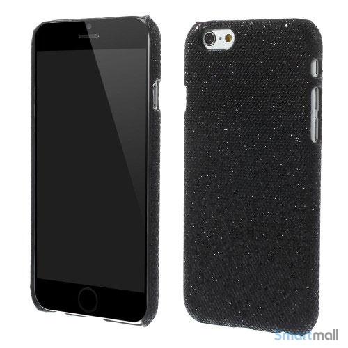 Spaendende laeder-cover til iPhone 6, med paillet-effekt - Sort