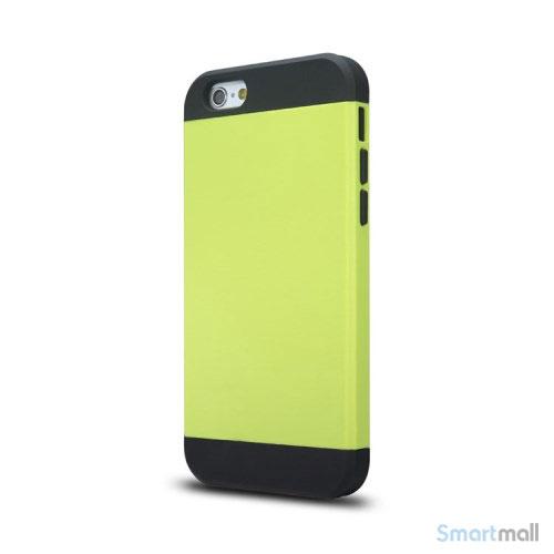 Staerkt hybrid-cover til iPhone 6 med dobbelt-beskyttelse - Groen2