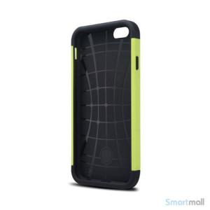 Staerkt hybrid-cover til iPhone 6 med dobbelt-beskyttelse - Groen3