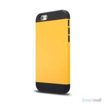 Staerkt hybrid-cover til iPhone 6 med dobbelt-beskyttelse - Gul