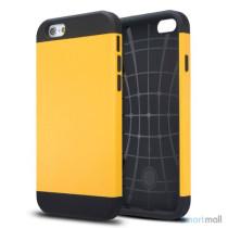 Staerkt hybrid-cover til iPhone 6 med dobbelt-beskyttelse - Gul3