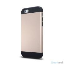 Staerkt hybrid-cover til iPhone 6 med dobbelt-beskyttelse - Guld2