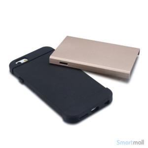 Staerkt hybrid-cover til iPhone 6 med dobbelt-beskyttelse - Guld4