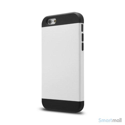 Staerkt hybrid-cover til iPhone 6 med dobbelt-beskyttelse - Hvid2
