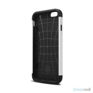 Staerkt hybrid-cover til iPhone 6 med dobbelt-beskyttelse - Hvid3