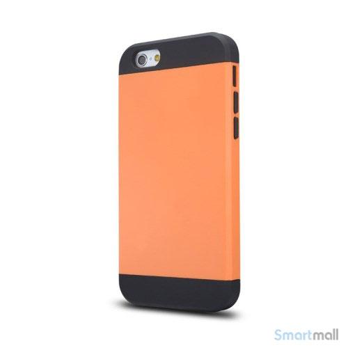 Staerkt hybrid-cover til iPhone 6 med dobbelt-beskyttelse - Orange