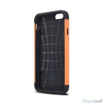 Staerkt hybrid-cover til iPhone 6 med dobbelt-beskyttelse - Orange2