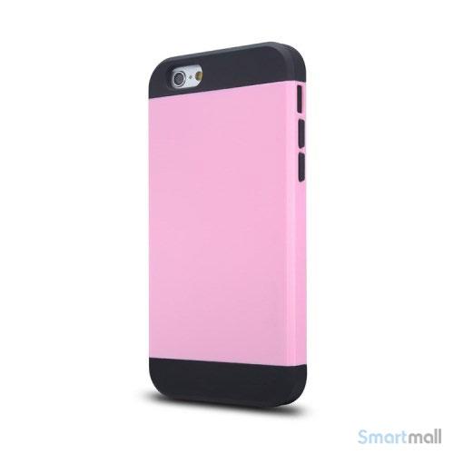 Staerkt hybrid-cover til iPhone 6 med dobbelt-beskyttelse - Pink2