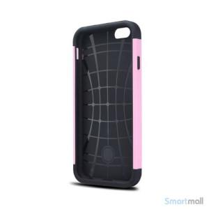Staerkt hybrid-cover til iPhone 6 med dobbelt-beskyttelse - Pink3
