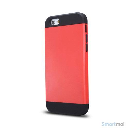 Staerkt hybrid-cover til iPhone 6 med dobbelt-beskyttelse - Roed