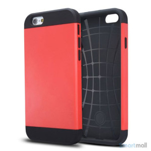Staerkt hybrid-cover til iPhone 6 med dobbelt-beskyttelse - Roed3