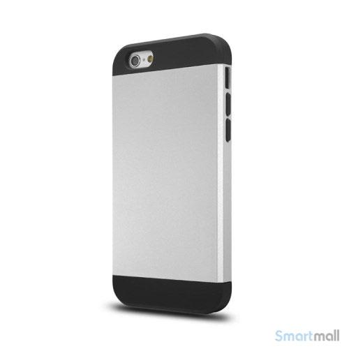 Staerkt hybrid-cover til iPhone 6 med dobbelt-beskyttelse - Soelv