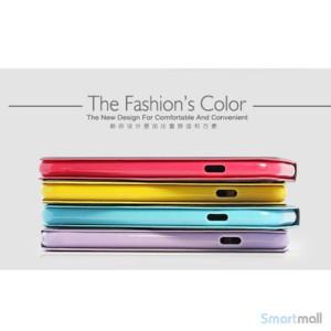 Stilfuld iPhone 6 flip-cover med stand-funktion, i PU-laeder - Lilla2