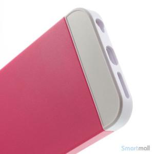 To-farvet iPhone 6 cover med indbygget kortholder - Hvid -Rose4