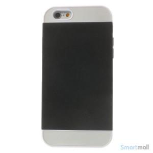 To-farvet iPhone 6 cover med indbygget kortholder - Hvid -Sort2