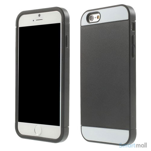 To-farvet iPhone 6 cover med indbygget kortholder - Sort