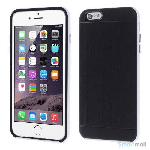 Todelt cover til iPhone 6 med ekstra beskyttelse - Hvid