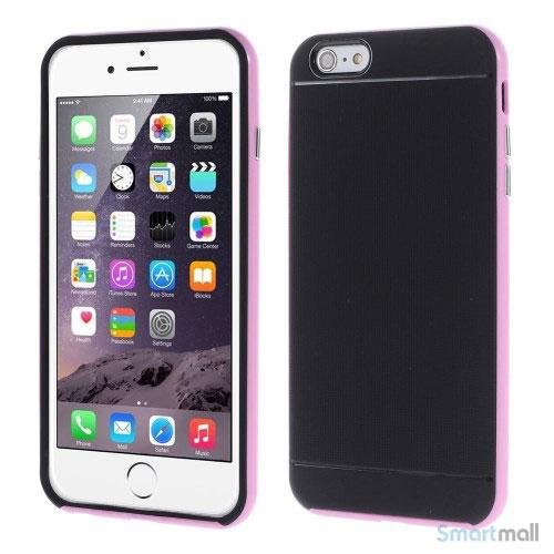 Todelt cover til iPhone 6 med ekstra beskyttelse - Pink