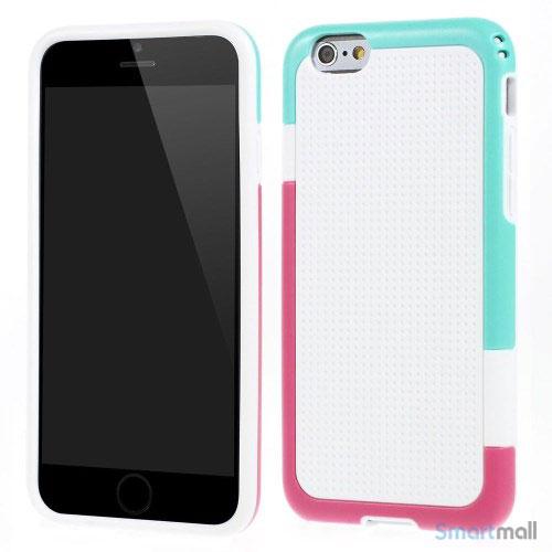 Tre-farvet cover til iPhone 6, med spaendende detaljer - Hvid
