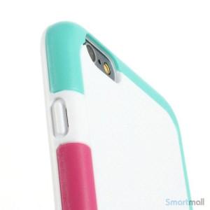 Tre-farvet cover til iPhone 6, med spaendende detaljer - Hvid5