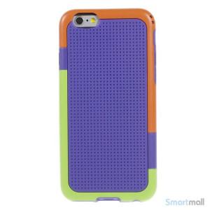 Tre-farvet cover til iPhone 6, med spaendende detaljer - Lilla2