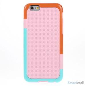 Tre-farvet cover til iPhone 6, med spaendende detaljer - Pink2