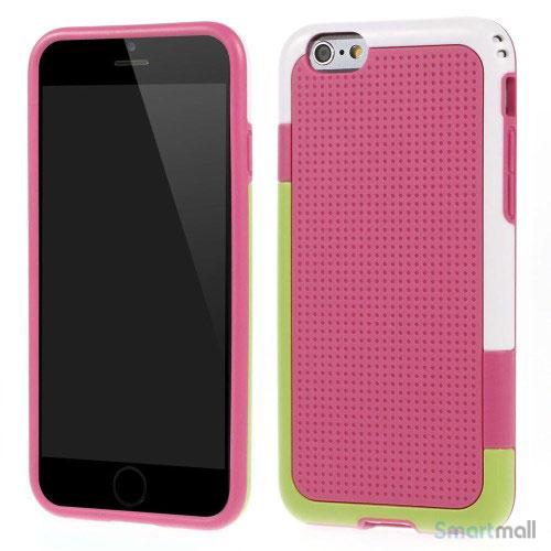 Tre-farvet cover til iPhone 6, med spaendende detaljer - Rose