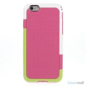 Tre-farvet cover til iPhone 6, med spaendende detaljer - Rose2