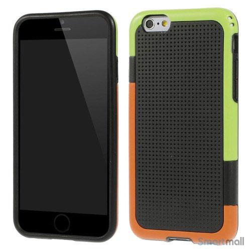 Tre-farvet cover til iPhone 6, med spaendende detaljer - Sort