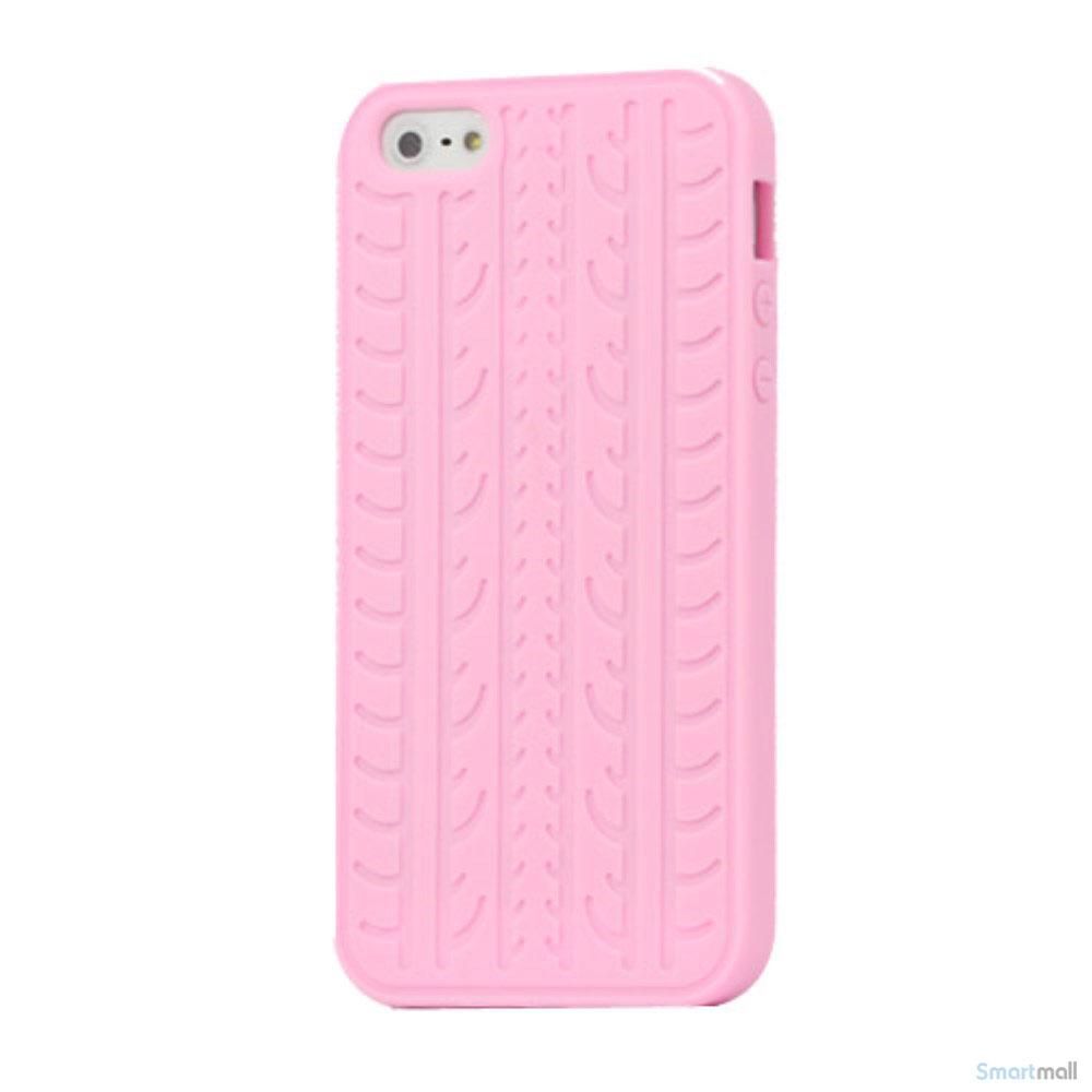 purchase cheap 91d7c e5306 Trendy silikone-cover til iPhone 5 og 5s, med dækmønster - Pink
