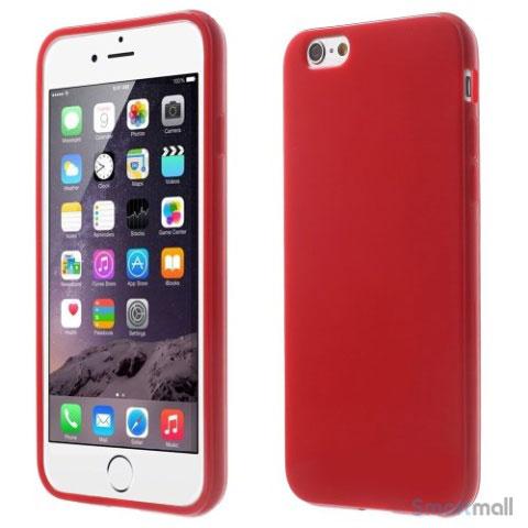 Blødt TPU-cover til iPhone 6 og 6s, med glossy-effekt – Rød
