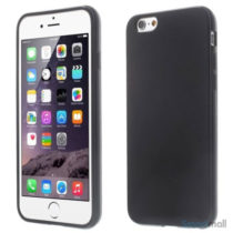 Blødt TPU-cover til iPhone 6 og 6s, med glossy-effekt – Sort