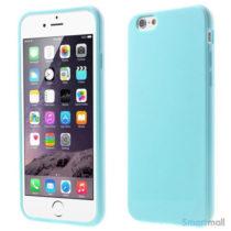 Ensfarvet blødt cover med glossy-effekt til iPhone 6 og 6s – Baby Blå