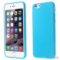 Ensfarvet blødt cover med glossy-effekt til iPhone 6 og 6s – Blå