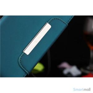 Flip-cover i blodt laeder til iPhone 6, med haendstrop - baby blaa3