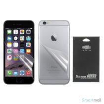 Klar folie skærmbeskyttelse til iPhone 6/6S, for & bagside