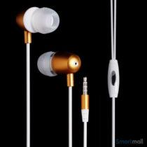 LANGSTON 3.5mm in-ear høretelefoner m/mikro til iPhone, Samsung, mfl. – Hvid