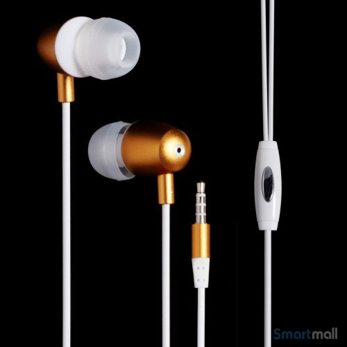 LANGSTON 3.5mm in-ear høretelefoner m/mikro til iPhone, Samsung, mfl. – Hvid