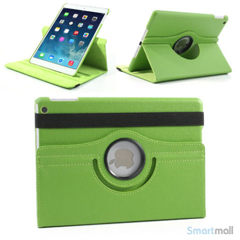 laekkert-360-gradersroterende-cover-m-standfunktion-til-ipad-air-groen