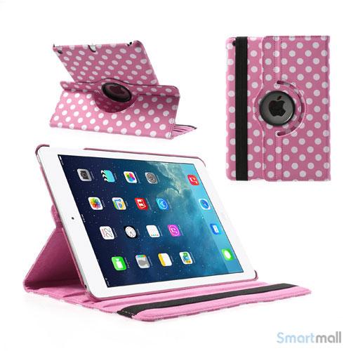 polkaprikket-smart-laeder-cover-til-ipad-air-m-360-stand-pink-hvid1