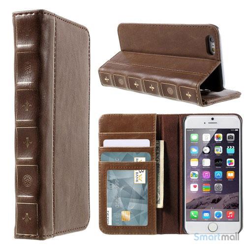 flot-laedercover-i-bog-design-m-kortholder-til-iphone-6-6s-plus-brun1