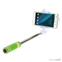 Letvægts mini selfie stick m/minijack stik til iPhone/Samsung/Sony/Mfl – Grøn