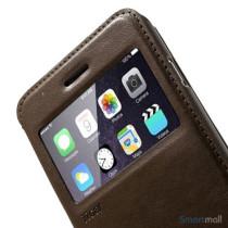 ROARKOREA laedercover m-frontvindue til iPhone 6-6S PLUS - Brun7