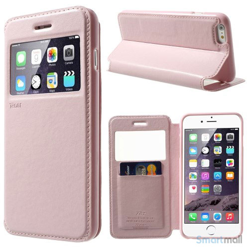 ROARKOREA laedercover mfrontvindue til iPhone 6-6S PLUS - Pink
