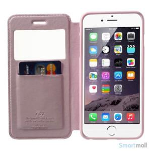 ROARKOREA laedercover mfrontvindue til iPhone 6-6S PLUS - Pink5
